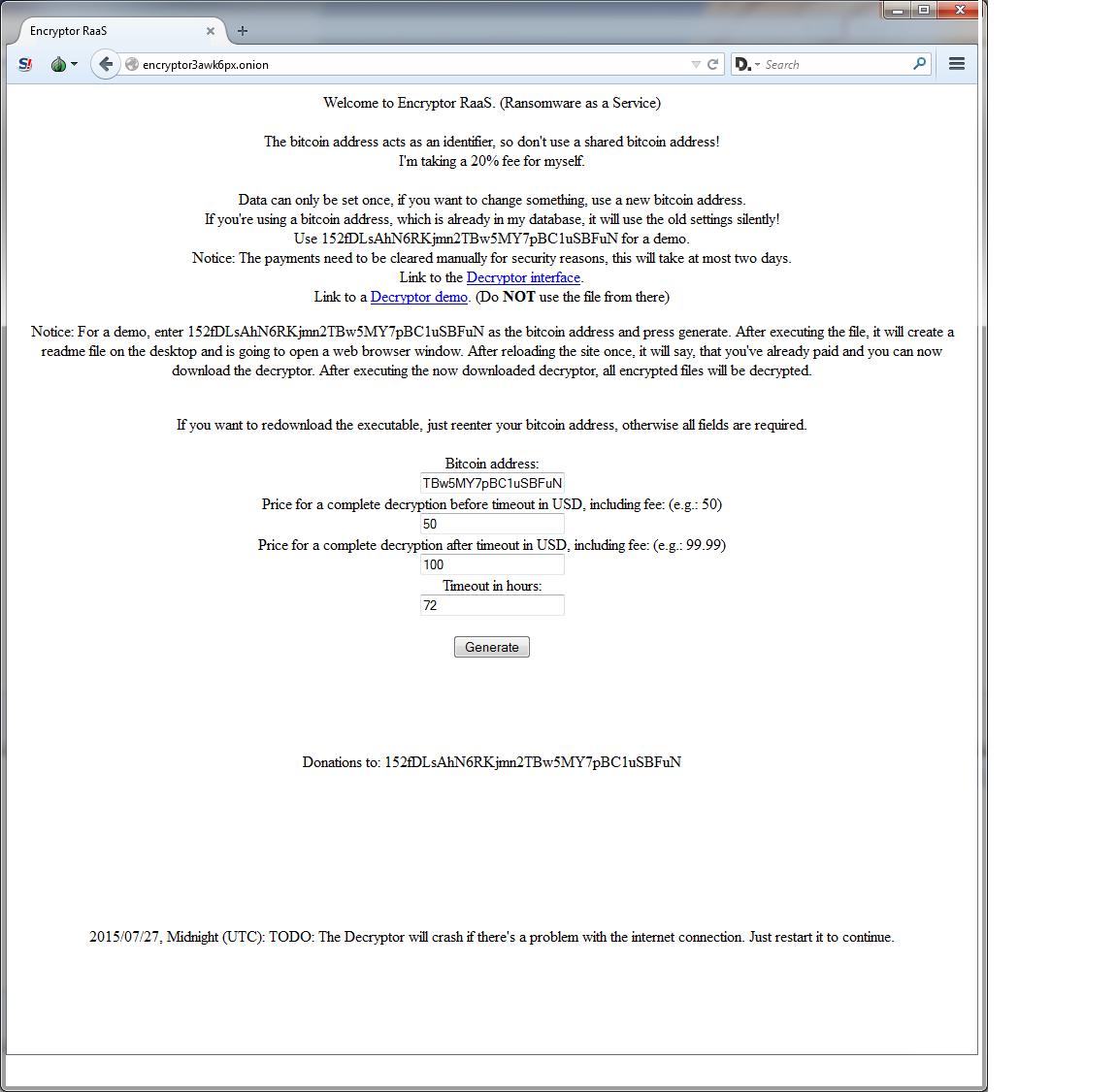 Encryptor RaaS (Ransomware as a Service) - Webroot Blog
