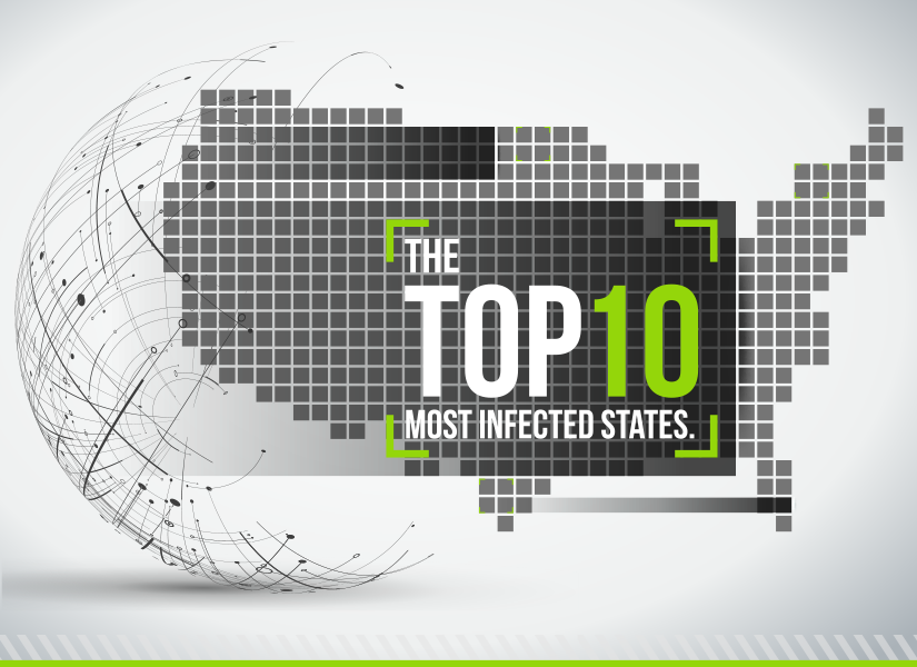 Top 10 Most Infected States